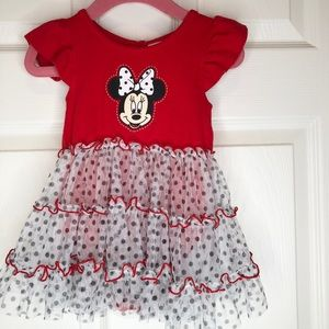 2/20$ Disney Baby Girl Mini Mouse Dress with snaps